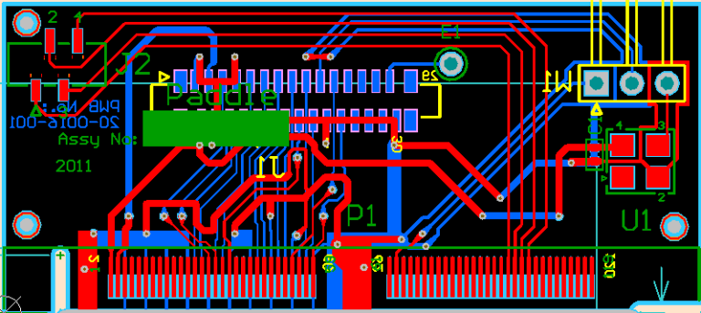 Adapter board - 2D design view