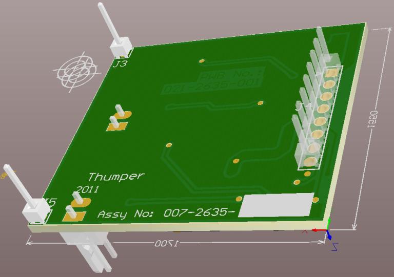 3D design view of future custom module - bottom