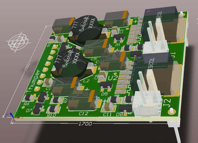 3D design view of future custom module - top